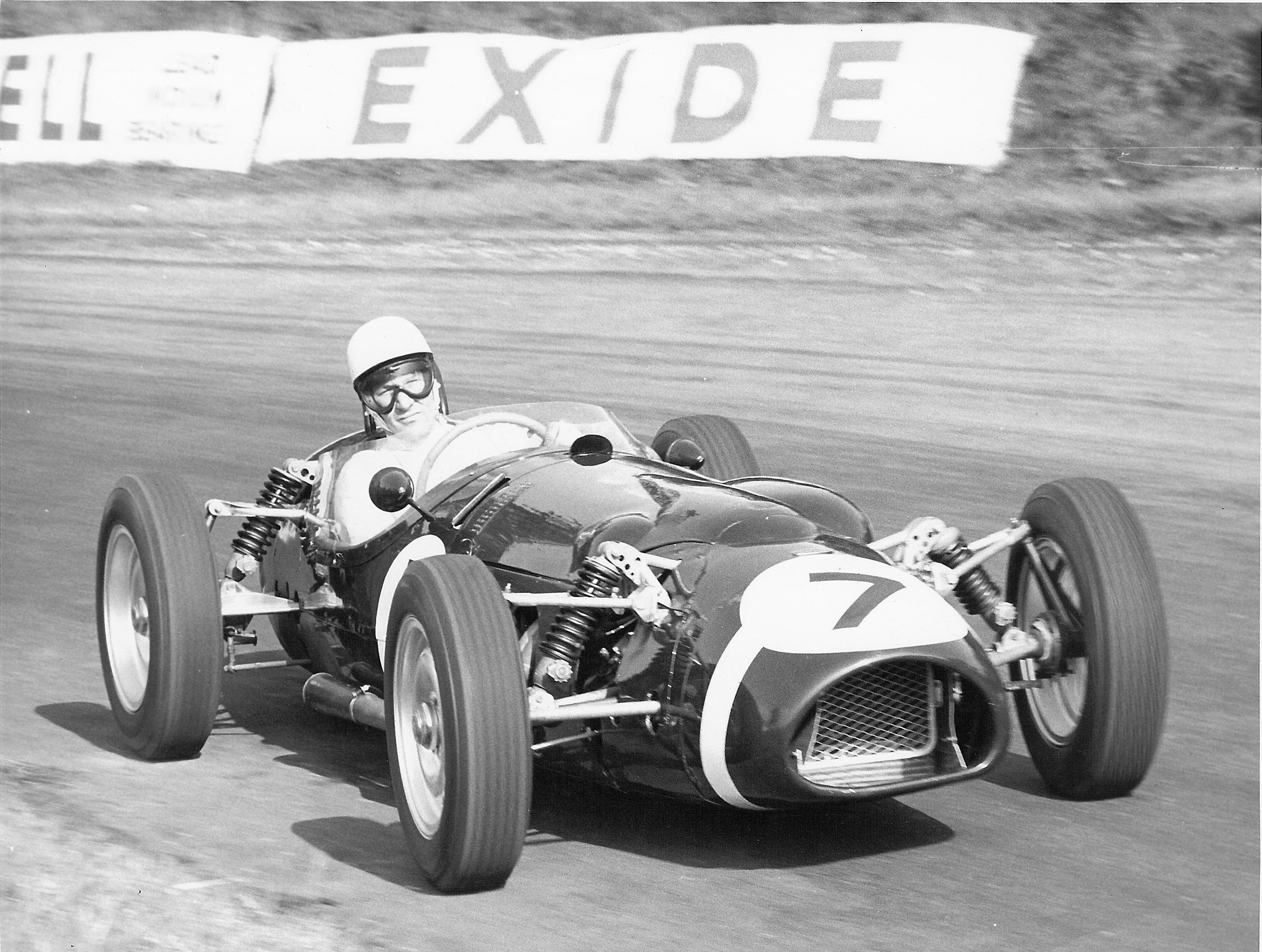 Stirling Moss in P99 at Oulton Park