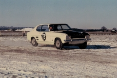 Roger Clark in four-wheel drive Rallycross Ford Capri